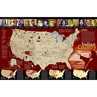 Indian Country Wall Map