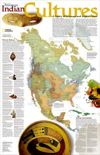 North American Indian Cultures Map