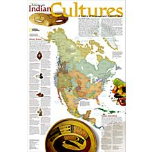 North American Indian Cultures Wall Map