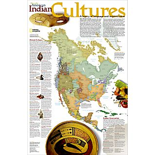 View North American Indian Cultures Map image