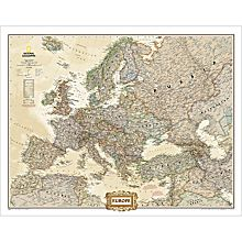 Maps of Europe Earth Toned