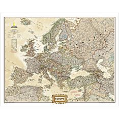 Earth Toned Map of Europe