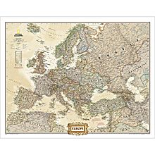 Europe Political Wall Map (Earth-Toned), Laminated