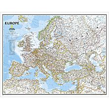 Europe Political Map (Earth-Toned), Enlarged and Laminated, 2006