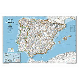 View Spain and Portugal Political Map, Laminated image