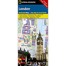 London Destination City Travel and Hiking Map