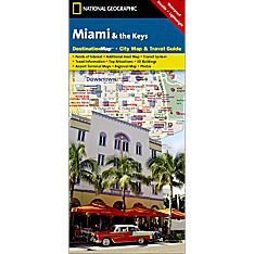 Miami & The Keys Destination City Travel and Hiking Map