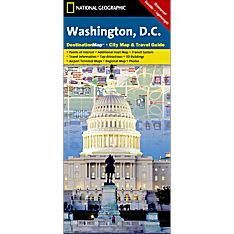 Washington, D.C. Destination City Travel and Hiking Map