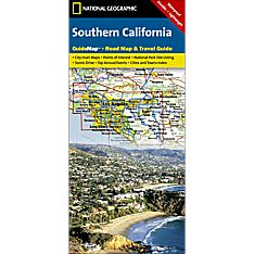 Southern California Guide Travel and Hiking Map