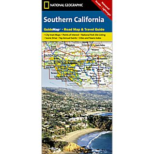 National Geographic Southern California Map