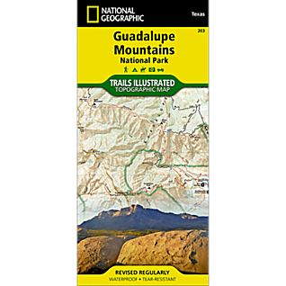 View 203 Guadalupe Mountains National Park Trail Map image