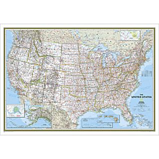 United States Classic Wall Map, Laminated