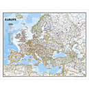 Europe Classic Wall Map, Enlarged and Laminated