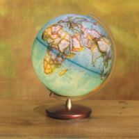 Explorer Illuminated Blue Ocean Desk Globe