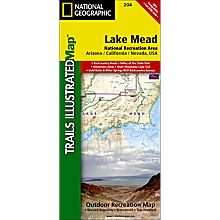 204 Lake Mead National Recreation Area Trail Hiking Map