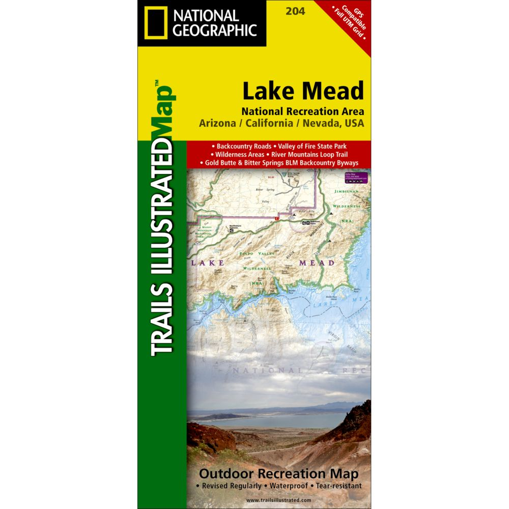 National Geographic Lake Mead National Recreation Area Trail Map
