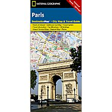 Paris Destination City Travel and Hiking Map