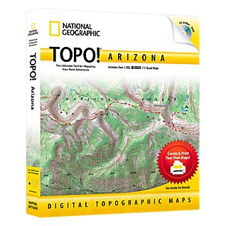 photo: National Geographic TOPO! Arizona CD-ROM us mountain states map application