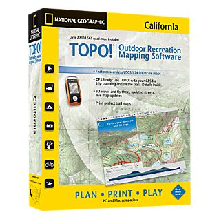 photo: National Geographic TOPO! California CD-ROM us mountain states map application