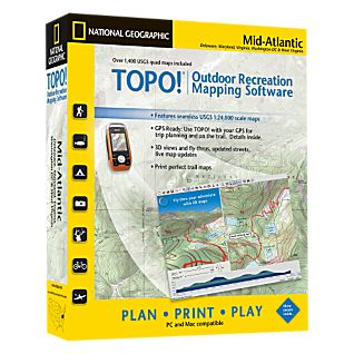 National Geographic TOPO! Mid-Atlantic CD-ROM