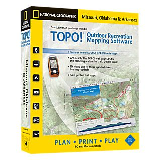 National Geographic TOPO! Missouri, Oklahoma & Arkansas CD-ROM