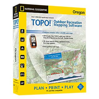 National Geographic TOPO! Oregon CD-ROM