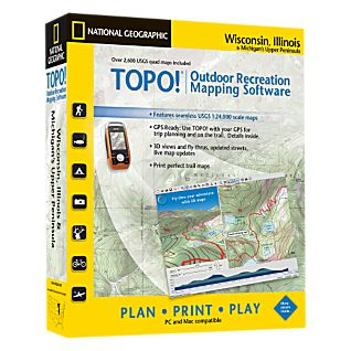 National Geographic TOPO! Wisconsin, Illinois & Michigan Upper Peninsula CD-ROM