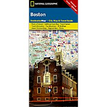 Boston Destination City Travel and Hiking Map