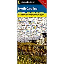 North Carolina Guide Travel and Hiking Map