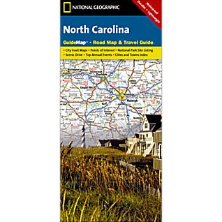 National Geographic North Carolina Map
