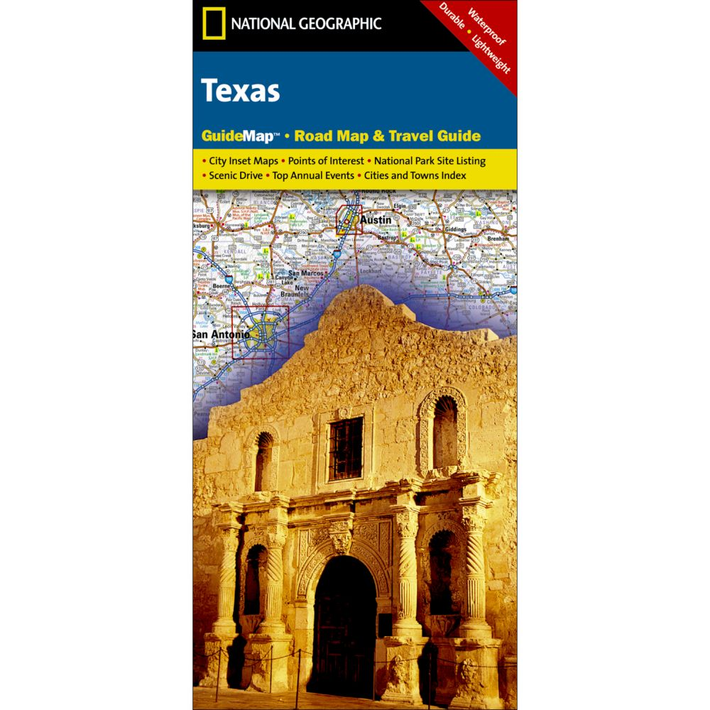 National Geographic Texas Map