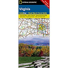 Virginia Guide Travel and Hiking Map