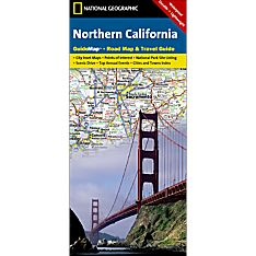 Northern California Guide Travel and Hiking Map