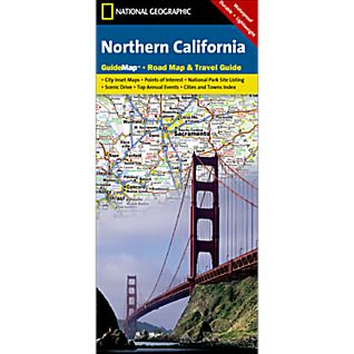 photo: National Geographic Northern California Map
