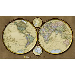 View World Hemispheres Map image