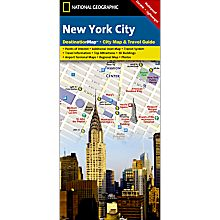 New York Destination City Travel and Hiking Map