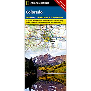 National Geographic Colorado Map