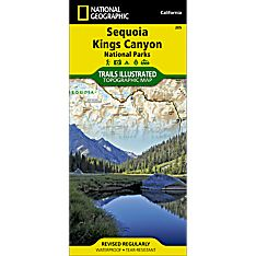 205 Sequoia/Kings Canyon National Park Trail Hiking Map
