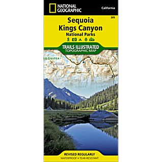 205 Sequoia/Kings Canyon National Park Trail Map