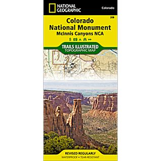 National Geographic Colorado National Monument Trail Map