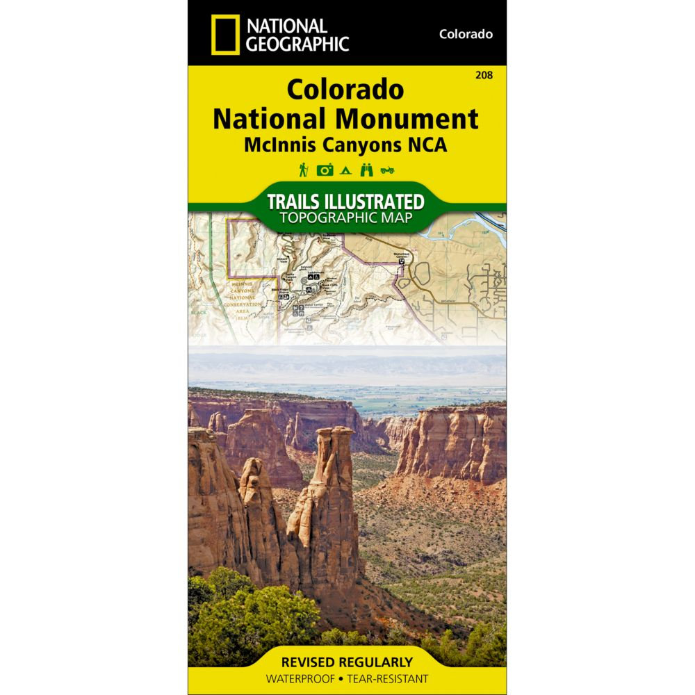 photo: National Geographic Colorado National Monument Trail Map