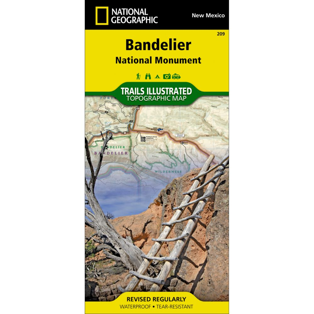 National Geographic Bandelier National Monument Trail Map