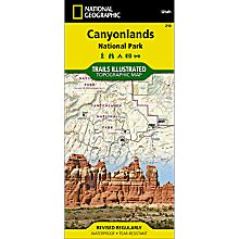 Canyonlands Utah Hiking Trails Map