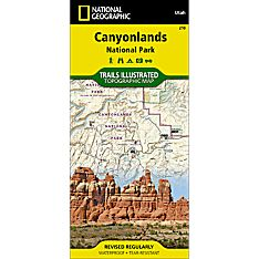 210 Canyonlands National Park-Needles/Island in the Sky Trail Map, 2008