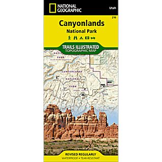 210 Canyonlands National Park-Needles / Island in the Sky Trail Map