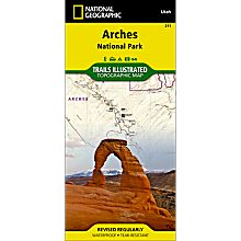 211 Arches National Park Trail Map
