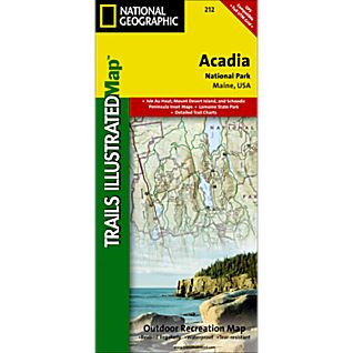 National Geographic Acadia National Park Map