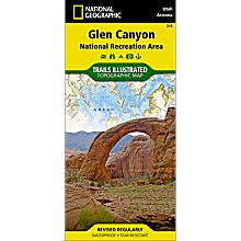 213 Glen Canyon, Rainbow Bridge Trail Hiking Map