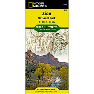National Geographic Zion National Park Map
