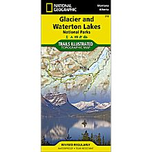 215 Glacier/Waterton Lakes National Parks Trail Map